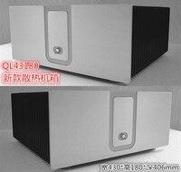 Усилитель шасси QL43180 алюминиевый корпус 430*180*407 мм amp случай DIY box