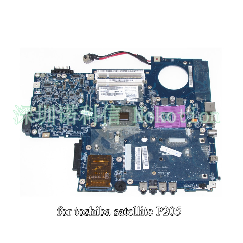 все цены на  K000057530 ISRAA LA-3441P For toshiba Satellite P200 P205 laptop motherboard 965GM DDR2 without graphics slot free CPU  онлайн