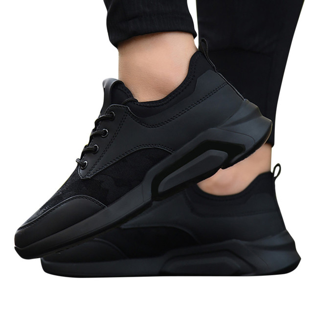Perimedes Black Lace-Up Men's Sneakers Casual 4