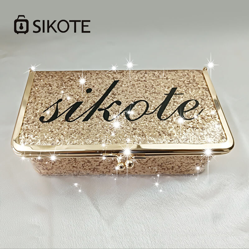 SIKOTE 19cm Solid Cosmetic Cases For Make Up Bag Box Pink Gold Portable For Travel Cosmetic Bags With Hasp Fashion Women Gift