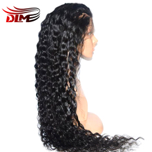 DLME Hand Tied Brazilian Body Wave Lace Front Wig For Black Women With Babyhair 10″-26″Natural Hair Wigs Free Shipping Synthetic