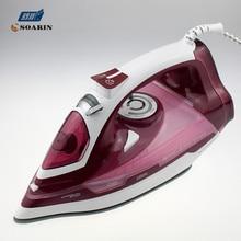 Ménage fer à vapeur pour vêtements 220 v céramique autonettoyant vapeur fer vêtements éclatement de vapeur contrôle de vapeur fil à repasser