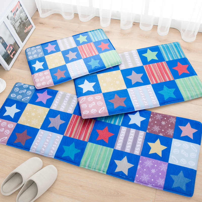40X60 + 45X120 CM/Set daim étoiles tapis de cuisine accueil entrée/couloir paillasson anti-dérapant salle de bain tapis chambre tapis et tapis