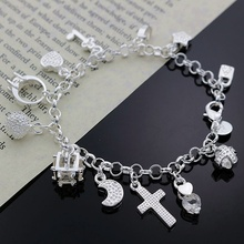Beautiful charm pendant women lady wedding party silver bracelets new high -quality fashion jewelry Christmas gifts H144