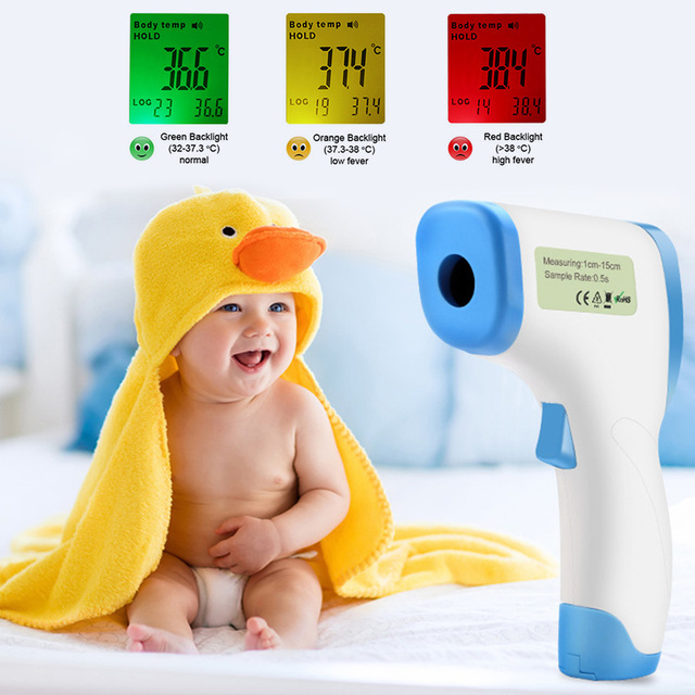 Baby Care Infrared Electronic Digital Thermometer Gun Non-Contact IR Forehead infant Ear Temperature Measurement Termometro 1