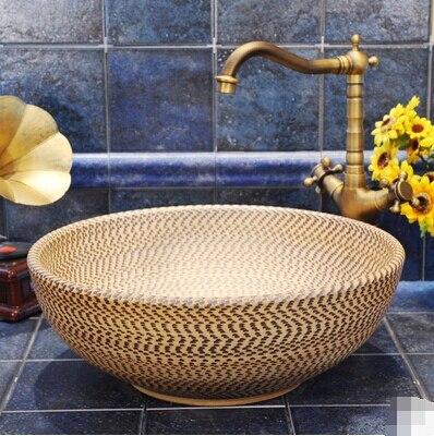European Art Jingdezhen Ceramic wash basin wash basin counter basin wash basin bowl jumping font b