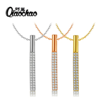 CZ Necklaces & Pendants Gold-colour Fashion Imitation Gemstone Jewelry For Women X188