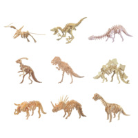 Chanycore Baby Learning Educational Wooden Toys 3D Puzzle Dinosaur T Rex Triceratops Stegosaurus Pterosaur Animal Kid