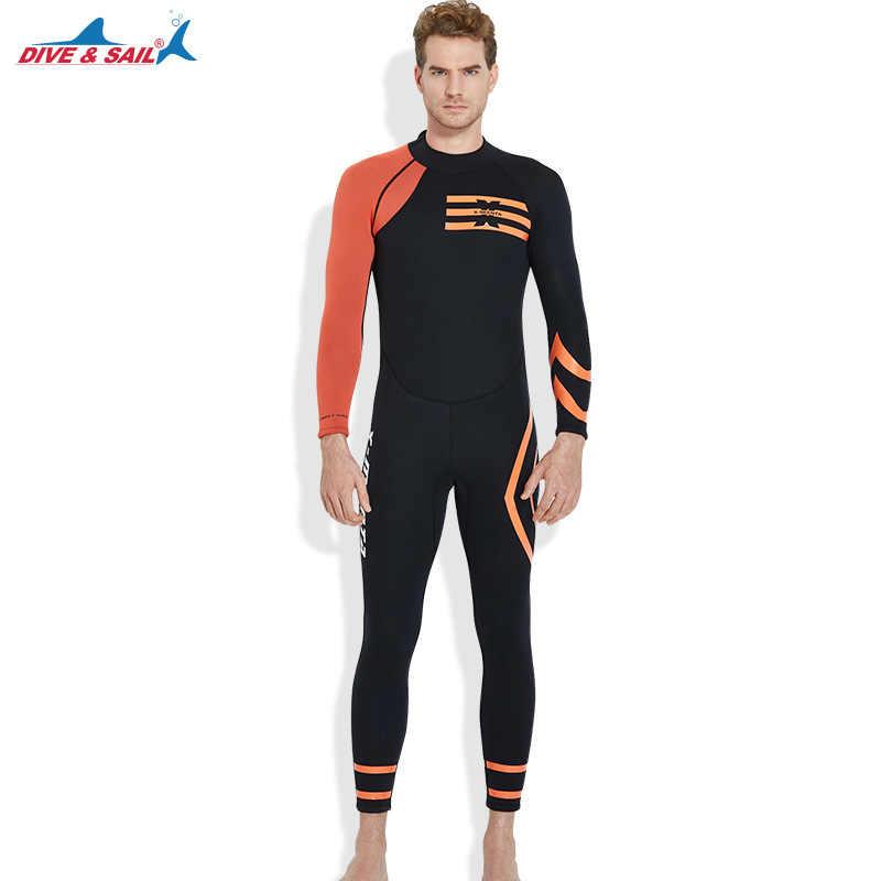 Men 3mm New Arrival Mens 3MM Wetsuit Back Zipper Scuba Dive Jumpsuit Spearfishing One-Piece Long Sleeved Wet Suit warm Swimwear