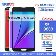 Pantalla LCD para Samsung S5 G900F G900 I9600 G900A pantalla LCD y montaje de digitalizador de pantalla táctil con herramientas adhesivas