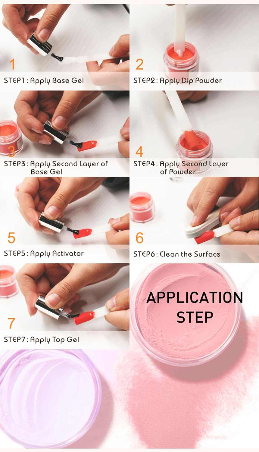 Image result for how to apply powder dip nails