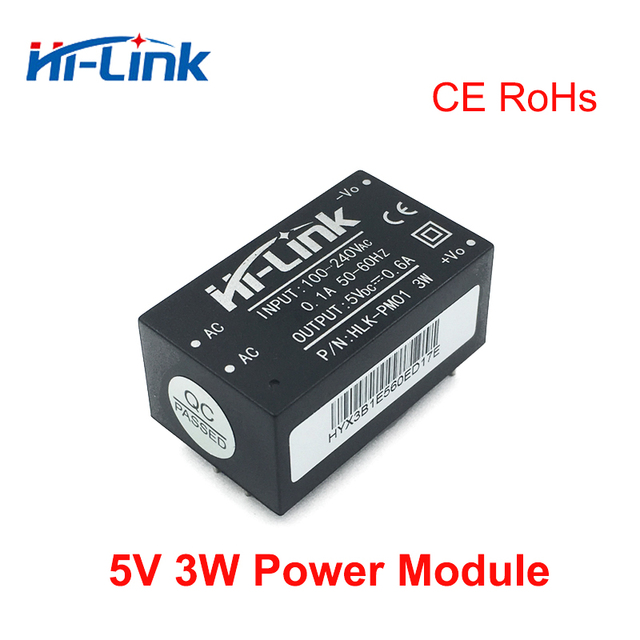 HOT sale HLK PM01 AC DC 220V to 5v mini power supply module for intelligent household switch power module UL/CE