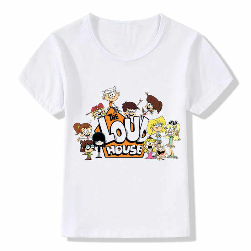 2018 Cartoon The Loud House Design Children's Funny T-Shirts Kids Casual Clothes Boys Girls Tops Cute Tees For Toddler,ooo5157