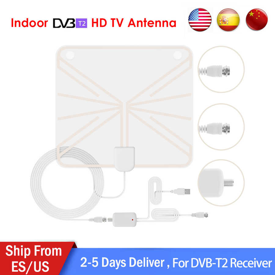 ultra thin digital indoor antena lnb tv hdtv 1080p antenna high signal capture cable signal amplifie [ 900 x 900 Pixel ]