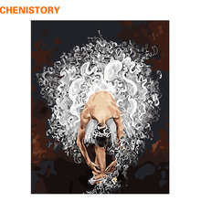 CHENISTORY Frameless Ballet Dancer DIY Painting By Numbers Acrylic Paint On Canvas Hand Painted Oil Painting For Home Decor Arts