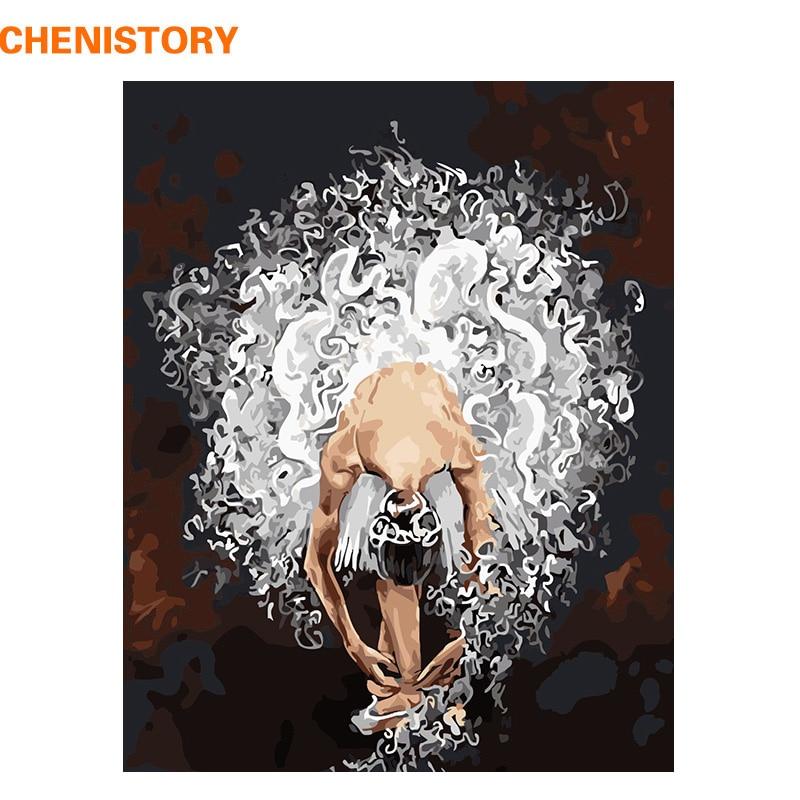 CHENISTORY Rahmenlose Ballett Tänzerin DIY Malerei Durch Zahlen Acrylfarbe Auf Leinwand Hand Gemalt Öl Malerei Für Home Decor Kunst