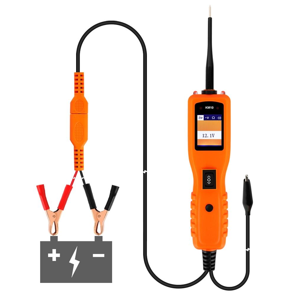 Цена за Электрический тестер Мощность зонд kzyee KM10 Электрооборудование для мотоциклов диагностики 12 В ремонт автомобилей инструмент диагностики
