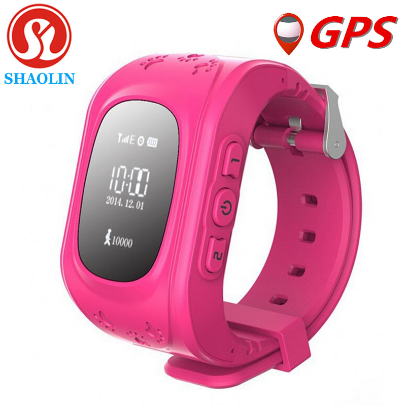Más nuevos niños reloj gps q50 smart watch con sos clave anti-perdida para el ip