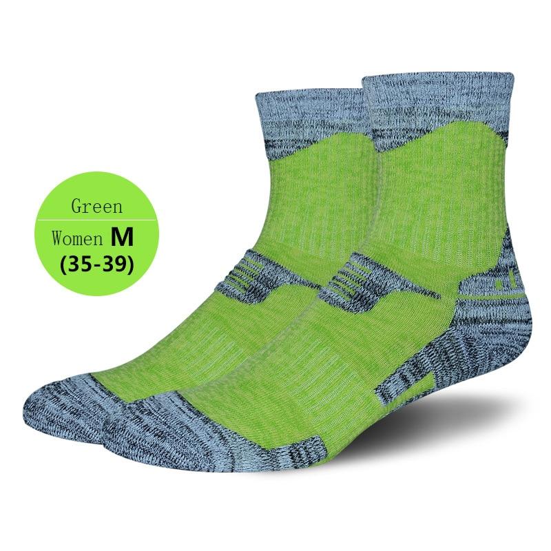 6 Pairs/lots Women Outdoor Ski Socks Thick Warm Sports Sock Green Athletic Hiking Sportwear Socks Workout Climbing Skiing Socks