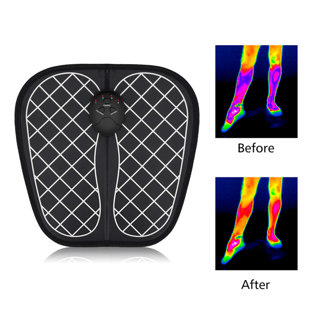 ABS Physiotherapy Electric EMS Foot Massager Revitalizing Pedicure Tens Foot Vibrator Wireless Feet Muscle Stimulator Unisex 2