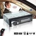 Radio del coche 1 Din Audio Estéreo MP3 Reproductor de Radio Bluetooth 12 V En El Tablero de Un Solo Receptor Receptor FM Aux USB SD Remoto Control