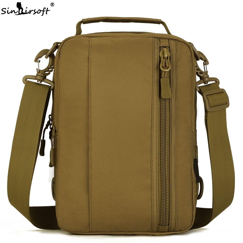 SINAIRSOFT Military Tactical Backpack Molle Crossbody Nylon 10 Inches Tablet Rucksacks Camping Hunting Fishing Sport Hand Bag
