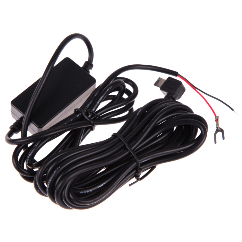 DC <font><b>12V</b></font> to 5V <font><b>Car</b></font> Inverter Converter Micro <font><b>USB</b></font> Hard Wired <font><b>Car</b></font> Battery Charger Voltage Protector for <font><b>DVR</b></font> Camera Video Recorder image
