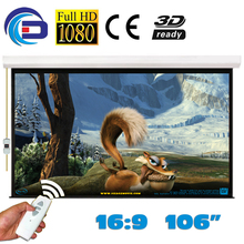 106 inch 16:9 Electric Projector Projection Screen Pantalla Proyeccion WFFG for LED LCD HD Movie Motorized Projection Screen