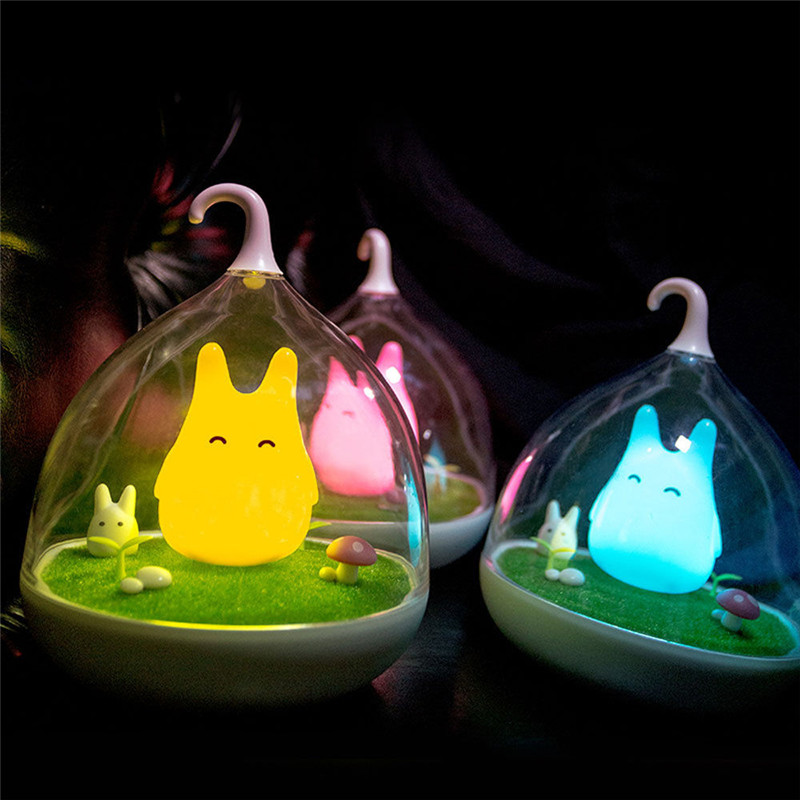 LS4G Yellow/Blue/Pink Creative LED Birdcage Lamp Rechargeable Bird Cage Night Light with Touch Dimmer