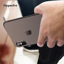 Oppselve Luxury Ultra Slim Case For iPhone X Xr Xs Max Hard PC Cover 8 7 6 s Plus Coque Capinhas Telefontok