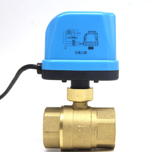 """Image 2 - DN15 DN20 DN25 DN32 AC220V Electric water 2 way Brass Motorized Ball Valve ,Switch type two way hvac 1/2 """" 3/4"""" 1"""" 2"""" valves"""