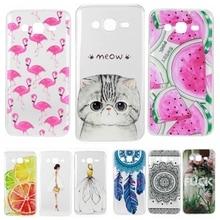 Phone Case for Samsung Galaxy J5 2015 J 5 J500 J500F J500H Soft Silicon TPU Transparent Thin Cover Cute Cat Flamingo Fruit Cases