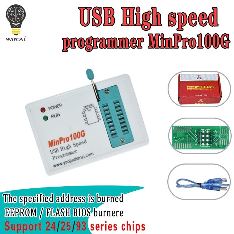 MinPro100E MinPro100G programmeur BIOS en FLASH SPI 24/25/95 brûleur mémoire USB en lecture et écriture