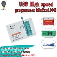 Programador MinPro100E MinPro100G BIOS en FLASH SPI 24/25/95 leer y escribir quemador de memoria USB
