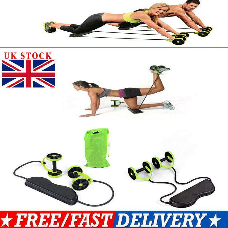 Four-wheeled Abdominal Body Muscle Exerciser Rolling Wheel Fitness Equipment MI