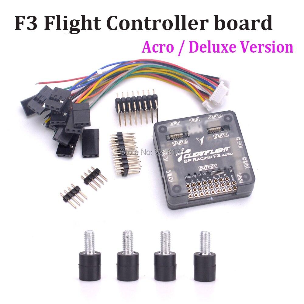 SP Racing F3 controlador de vuelo Acro 6 DOF/Deluxe 10 DOF mejor que Naze32 para QAV250 Floss 215 QAV-R 220 Quadcopter