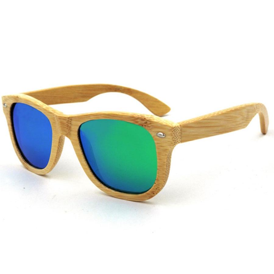 bamboo Polarized Sunglasses Men Retro Rivet High Quality ...