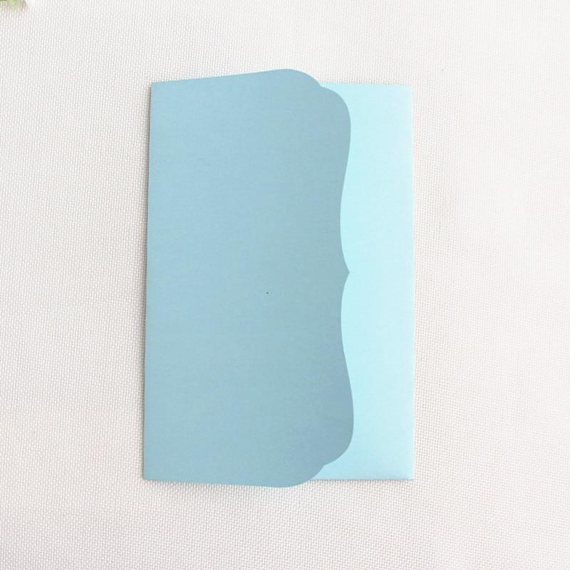 Rural pocket invitations envelopes birthday wedding marriage tri folding invites holder blue pink white card manufacturer