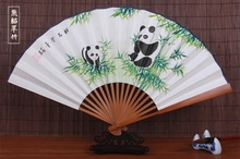 Free Shipping China Wind Folding Fan High Quality Hand-painted Rice Paper Bamboo Fan Wedding Party Souvenir Gift Folding Fan