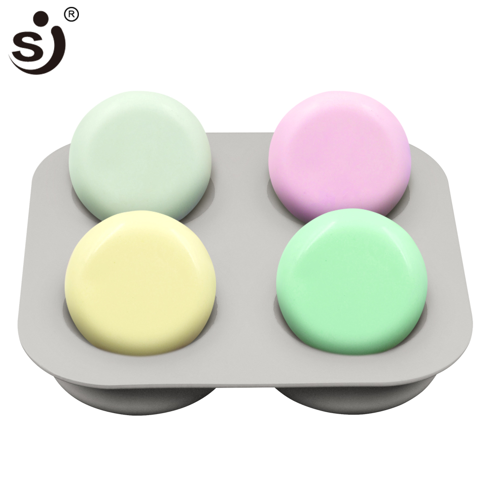 SJ 3d Silicone Soap Molds Handmade Round Shapes For Soap Making Form ,Safe & Non-Toxic