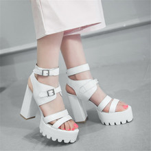 summer sandals waterproof shoes with high heels shoes with the bottom of the bottom of the 4-8 code