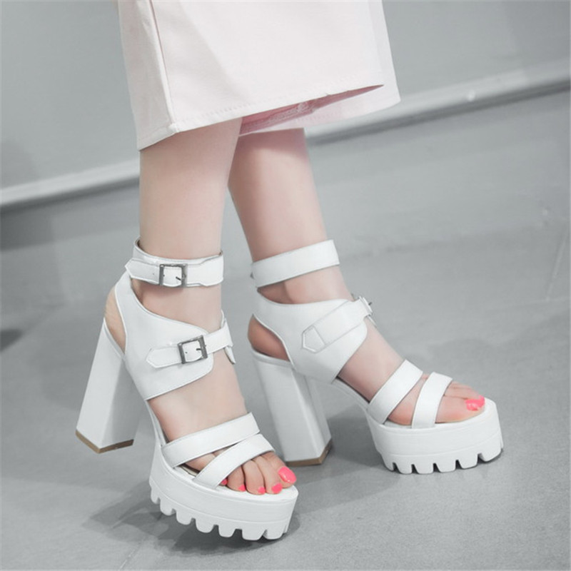 summer sandals waterproof shoes with high heels shoes with the bottom of the bottom of the
