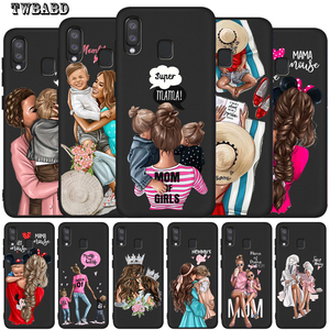 For Cover Samsung Galaxy A50 Case Fashion Supear Mom Baby Mouse for Samsung A10 A20 A30 A40 A70 M10 M20 Shell Capa Etui(China)