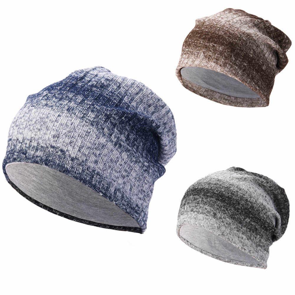 KANCOOLD 2018 Winter Beanie AutumnCap Women Warmer Skullies Beanies Knitted Slouchy Caps Casual Men Woolen Hats Ski PJ1022