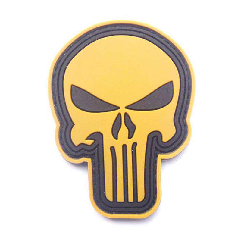 Punisher Skull 3D พีวีซีอีพ็อกซี่ Armband ทหารยุทธวิธีพิเศษ FORCE Morale Badge หมวก JACKET กีฬากลางแจ้งตกแต่ง Patch