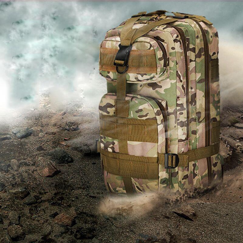 30L Hommes/Femmes Sport Sac de Randonnée Camping Sac de Voyage Trekking Sac Militaire Tactique Sac À Dos Camouflage Sac À Dos
