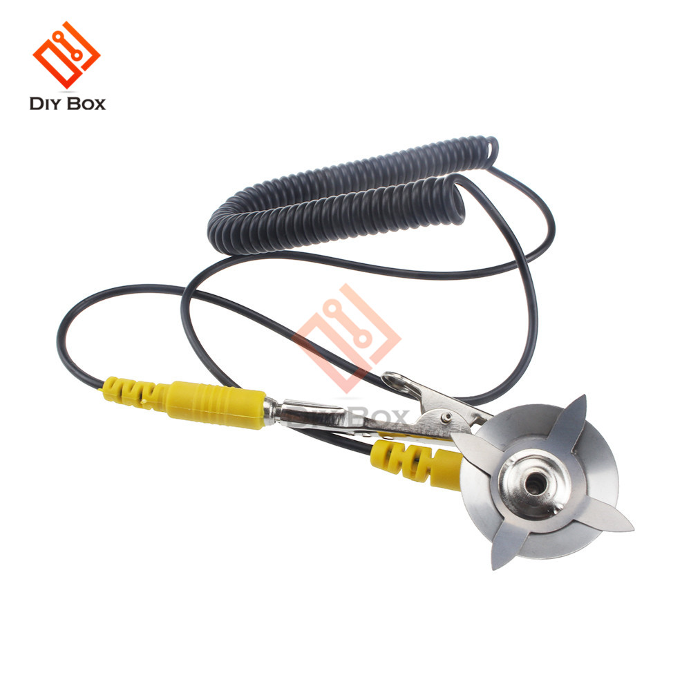 with Alligator Clip Claw and PU Grounding Wire 2pcs uxcell Anti-Static ESD Grounding Cable Coiled Cord