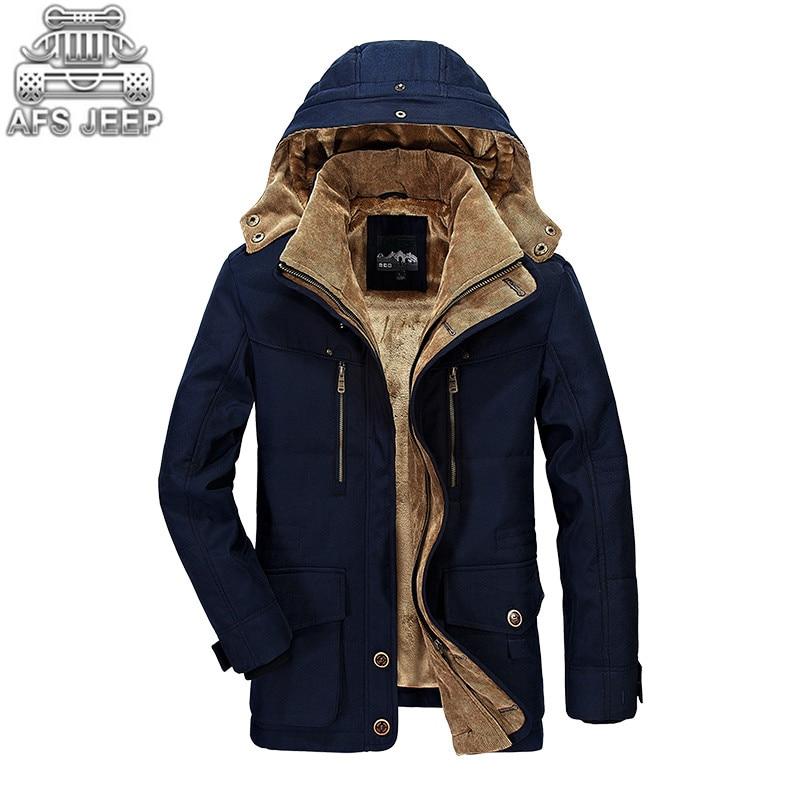 Зимняя куртка Для мужчин новый 2018 ветровка зимние оригинальный бренд АФН джип теплый толстый военный отдыха Для мужчин пуховики парки M-6XL