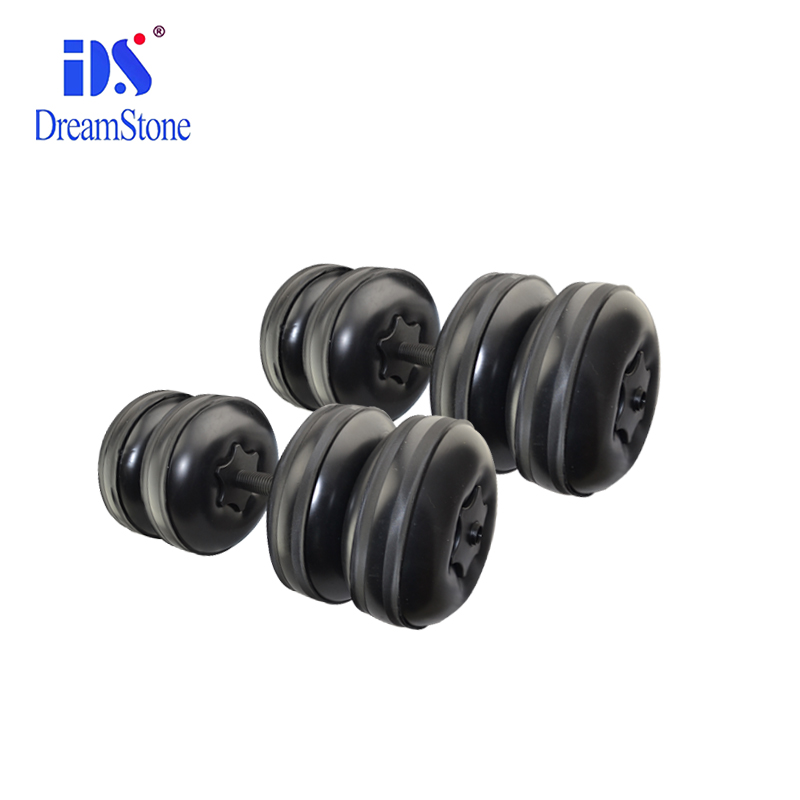 A Pair New Flexible Water Dumbbell Heavey Weight Dumbbell Gym Home Exercise Black for bodybuilding