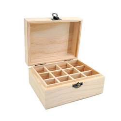 12 Grids Wooden Essential Oil Natural Pine Wood Aromatherapy Boxes 5-15ml For Home Decor Handmade Crafts